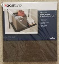 "NEW 2 2x Closetmaid Fabric Bin Brown 3150 11""x10.5""x10.5"" Large Storage Cube"