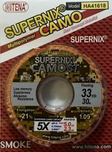 [HITENA] Supernix Camo ST - Multi-polymer Fly Tippet For Dry Flies (33yd)