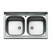 Lavello cucina appoggio ARISTON  acciaio Inox,misura cm.90x50,con 2 vasche