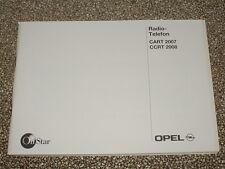 Manual de instrucciones Opel radio cart 2007, CCRT 2008 (nuevo) #rkta 2499