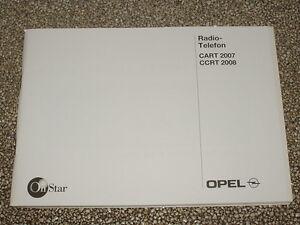 Bedienungsanleitung Opel Radio CART 2007, CCRT 2008 (neu) #rkta2499