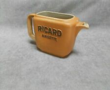Vintage French CERAMIC Provencal water PITCHER :RICARD Anisette   FRANCE