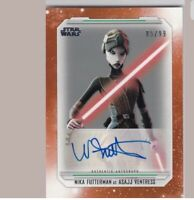 Autographed Topps Star Wars The Clone Wars - Nika Futterman As Asajj Ventress