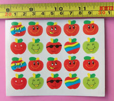 D1 Sticky paper Chinese gift Child sticker Child reward cute apple smiling faqwq