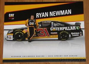 2015 Ryan Newman Caterpillar Chevy SS NASCAR Sprint Cup postcard