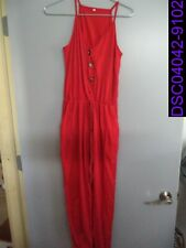 NWOT Red Tanktop Pant One Piece Romper Jumpsuit Size XL