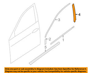 SUBARU OEM 14-16 Forester Front Door-Black Out Tape Right 90422SG040