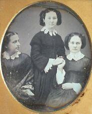 Daguerreotype 3 Women w/ ID, Interesting Pose