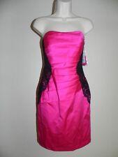 Davids Bridal Dress Size 8 Begonia Pink Strapless F15629 Bridesmaid Prom NWT$149