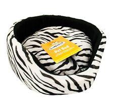 Zebra Print Super Suave De Lujo Comfy Cachorro De Perro Gato Mascotas Cama Cojín desmontable