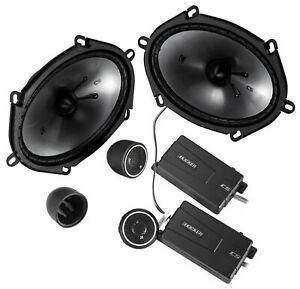 "KICKER 46CSS684 6X8"" 450w Car Audio Component Speakers w/ 0.75"" Tweeters CSS68"