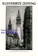 Metropolitan Tower New York XL Kunstdruck / Titelseite 1923 Amerika USA Monk