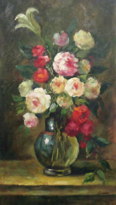 LMOP167 100% hand-painted beautiful flowers decor art OIL PAINTING on CANVAS ART