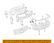 general motors bumpers parts for pontiac grand am for sale ebay rh ebay com Pontiac Vibe Bumper Parts Diagram pontiac oem parts catalog