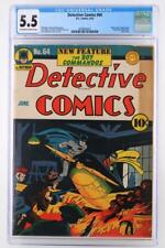 Detective Comics #64 - CGC 5.5 FN- DC 1942 - 1st App/Origin Boy Commandos!