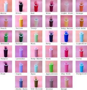 "12""X25yds Tulle Spool Wedding Bridal Party Favor Fabric Decoration Tutu Crafts"