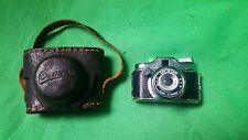 Crystar Mini Vintage Spy Camera Made in Japan with brown Leather Case Miniature