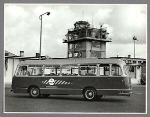 KLM ROYAL DUTCH AIRLINES BUS AUTOBUSBEDRIJF LARGE VINTAGE ORIGINAL PHOTO