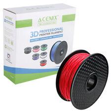 Acenix ® Rojo PLA filamento de impresora 3D, 1 Kg, 1.75 mm carrete para impresión 3D, plumas de 3D