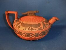 ANTIQUE early 19THC ROSSO ANTICO Basalte Egyptian Revival Théière C1810-Wedgwood