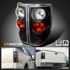 Fit 2004-2008 Ford F150 F-150 Rear Brake Tail Lights Black Left+Right