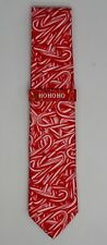 "Men's ""Candy Cane"" Christmas Holiday Cheer Neck Tie 57"" - Red & White - NWT"