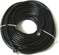 40m Black External Outdoor Network Ethernet Cable Cat5e LAN PC Router Modem RJ45