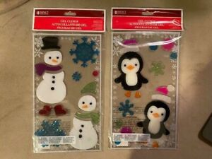 Brand New Set of 2 Winter Window Clings