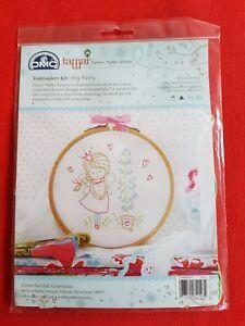 DMC Embroidery Kit 'SHY FAIRY' by Tamar Nahir-Yanai. HOOP NOT SUPPLIED.
