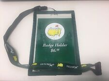 Augusta National 2017 Masters Golf Badge Holder on Lanyard / Brand New