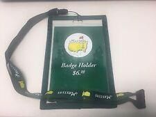 Augusta National 2017 Masters Golf Badge Holder on Lanyard / Brand New
