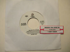 CELINE DION because you loved me / i  don't know  SONY jukebox strip    45