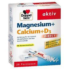 DOPPELHERZ Magnesium + Calcium + D3 direct Pellets 20St PZN: 7014117