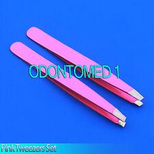 2 EYEBROW TWEEZERS IN Pink ODM Brand New Set