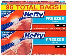 NEW Hefty Slider Freezer Bags Gallon 96 Count FREE SHIPPING