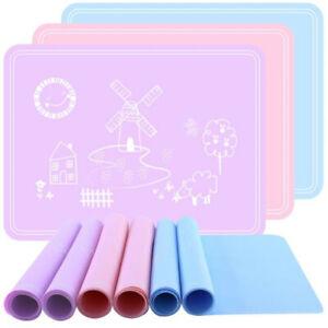 Non-Slip Heat Resistant Placemat Mat Children Desk Kitchen Table Pad R