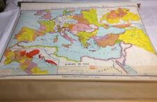 Vintage Denotes-Geppert Large Pull Down 1966 Map Of Europe  In 1360 12282A