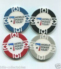 4 pc 4 colors 11.5 gram WORLD POKER TOUR poker chip samples set #180 WPT