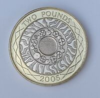 2005 PROOF £2 Standing on the shoulders of giants two pounds British industry