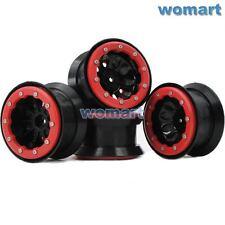 4 Stück 1/10 RC 2.2 Beadlock Felge Rims Wheels für RC 4WD Axial Crawler 2.2 Tire