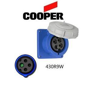 IEC 309 430R9W Receptacle, 30A, 250V, 3P/4W, Blue - Cooper # AH430R9W