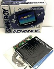 Nintendo Gameboy Advance GBA Indigo Purple BOX & MANUALS ONLY Excellent Free S&H