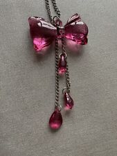 Pink Bow Long Necklace