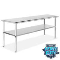 "Stainless Steel 24"" x 72"" NSF Commercial Kitchen Work Food Prep Table"
