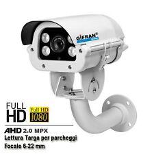 Telecamere lettura targhe videosorveglianza AHD 2.0 Mega Pixel FULL-HD 6/22
