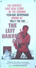 LEFT HANDED GUN MOVIE POSTER 1958 PAUL NEWMAN 3 SHEET