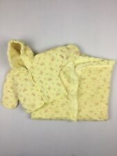 Vintage Baby Bunting Blanket And Coat Quilted Yellow Floral