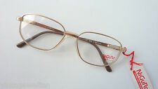 Nigura eckige Titanbrille Männer gold klassisch Federbügel Brillenfassung size M