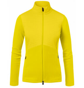 KJUS SCYLLA MIDLAYER JACKET WOMENS SMALL US 6 - EU 36 BUTTERCUP YELLOW MSRP $300