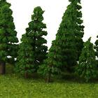 16x Dark Green Trees Model Train Wargame Diorama Forest Scenery Layout HO